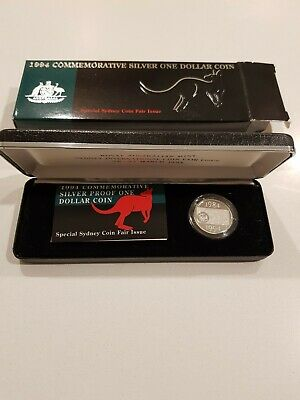 1994 Commemorative Silver One Dollar Coin - Sydney Coin Fair - RARE (2 of 9)