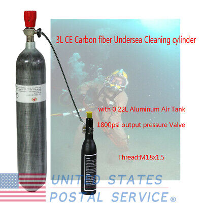 Air Compressed Cylinder CE 3L 4500psi Carbon Fiber Scuba tank & 0.22L Air Tank