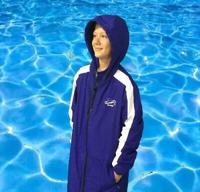 Swim Parka Wazsup Royal Blue S (pool deck coat, swim jacket, beach wear/robe)