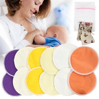 Washable Breast Pad Bamboo Fiber Three-Layer Anti-Overflow Breast Pad Reusable