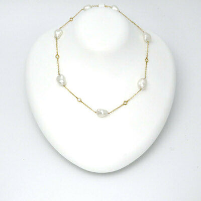 01487accf Tiffany Color By The Yard Sprinkle Pearl Necklace Yellow Gold (18K)  Diamond,Pear