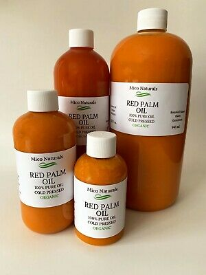 Palm Fruit Oil Extra Virgin/ Red Palm Oil Organic from 2 oz to gallon