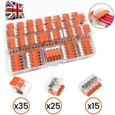 75pcs 221 Electrical Wago Connector Wire Block Clamp Terminal Reusable 2,3,5
