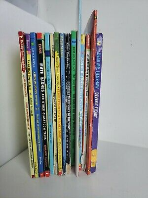 Lot 15 chapter books  Children's Youth Early Readers Homeschool Teacher b25