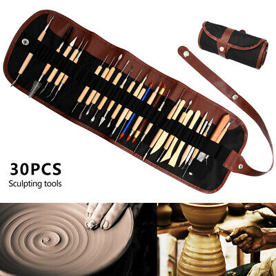 30pcs  Art Projects SetProfessional Polymer Clay Sculpting Tool Pottery Models