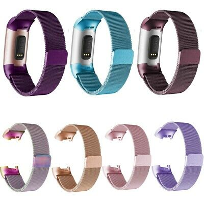 For Fitbit Charge 3 Watch Band Milanese Loop Stainless Steel Bracelet Strap S L