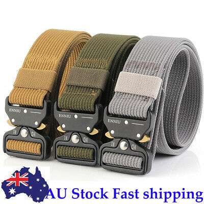 "49*1.5"" /1.77"" Men Tactical Buckle Belt Military Nylon Belt Training Belt Strap"