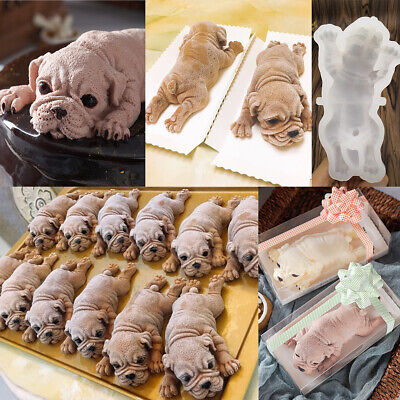 3D Silicone Dog Shape Cake Chocolate Jelly Doggy Candy Fondant Mold Baking Mould