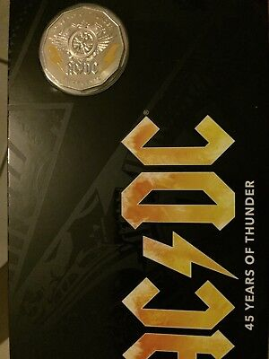 Australia 2018 AC/DC 45 Years of Thunder 50c Coloured Coin UNC