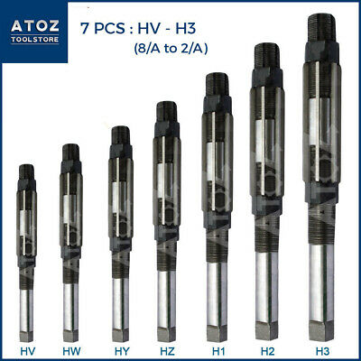 "ATOZ HV to H3 Adjustable Hand Reamer 7Pcs Set (1/4"" - 15/32"") INDUSTRIAL LEADER"