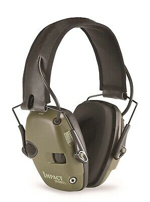 Howard Leight Impact Sport Electronic Ear Muffs SNR 25DB Class 4 Olive Green