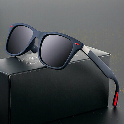 Men Stylish Polarizer Sunglasses Square Frame Driving Fishing Outdoor UV Glasses