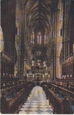 UK - Westminster Abbey (Interior) (Post Card) 1930's