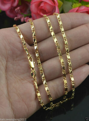 "Men Women 20"" 18K Yellow Gold Chain Necklace Link Chain Fashion Jewerly"