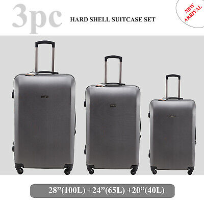 1pc-2pc-3pc Luggage Suitcase set Trolley Travel Bag 4 Wheel TSA lock lightweight