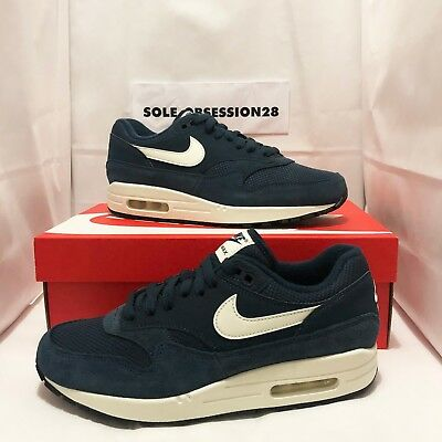 21faaccb950 NIKE AIR MAX 1 Ah8145 401 Armory Navy Blue sail White black - Suede ...