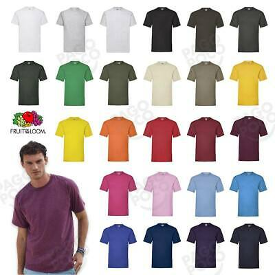 Set 3 T-Shirt Cotone Uomo Fruit Of The Loom T-Shirt Valueweight Tutti I Color