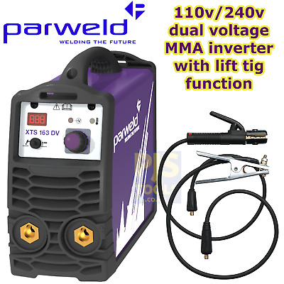 Parweld XTS163DV 110v 240v switchable 160A MMA arc stick welder 3 year warranty