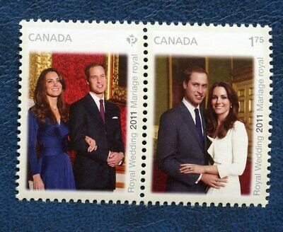 CANADA SC# 2465a ROYAL WEDDING SE-TENANT PAIR, GREAT CONDITION, MNH VF STAMPS