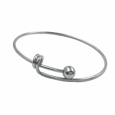 Gold Plated Cable Twist Stainless Steel Adjustable Wire Bangle