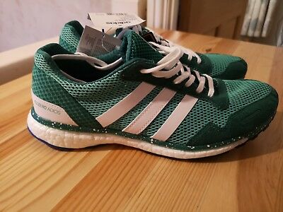 factory authentic c7cde 97fb2 Adidas Adizero Adios Boost UK 6Green White Blue BNWT