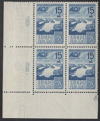 Finland 1949 UPU BLC block of 4, mnh
