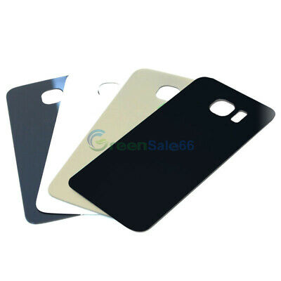 Back Door Glass Rear Battery Cover Housing Case For Samsung Galaxy S6 / S6 edge