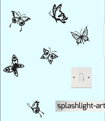 6x 10cm Butterfly Wall Stickers Vinyl Decal Art Baby Room mixture of sizes Set2