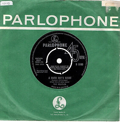 "The Beatles  Single  ""A Hard Day's Night / Things We Said Today"" Parlophone"