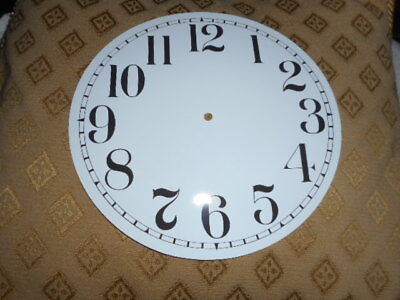 """Round Paper Clock Dial - 6 1/2"""" M/T - Arabic - GLOSS WHITE -Face/ Parts/Spares *"""
