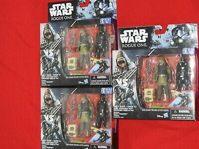 "3.75"" STAR WARS Rogue One 3x 2 packs Commander Pao & Death Trooper = 6 Figures"