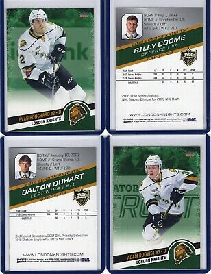 2018-19 London Knights Team Issued cards -- You choose your card!!!!