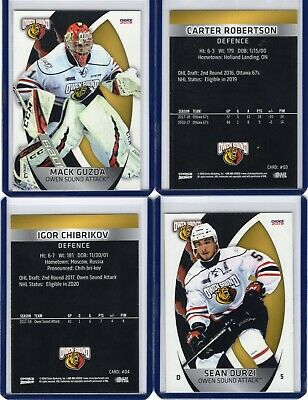 2018/19 Owen Sound Attack {OHL} Team Issued cards -- You pick from list!