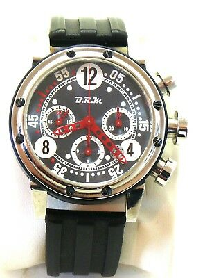 BRM B.R.M V12-44-BN-AR 0118E5 Red Hands Men's Watch w.box & papers RRP £7500