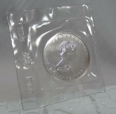 Canada 1988 GEM BU 1oz 9999 Fine Silver Maple Leaf $5 Coin RCM Mint Sealed C0908