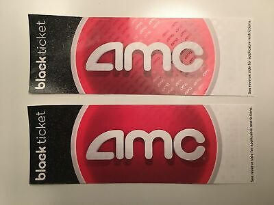 2 AMC Black Movie Tickets *Fast delivery!*