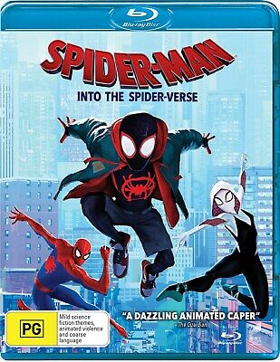 Spider Man Into the Spider verse with UltraViolet Copy Blu-ray Region B NEW