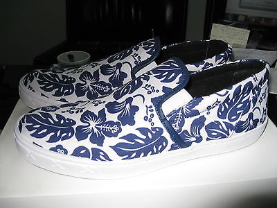 ff0130df1d1 New Steve Madden Gunman Floral Blue White Slip-On Hand Made Men Size 8 Dm