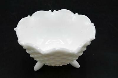 Vintage Fenton Milk Glass Hobnail - Footed Candy Bowl