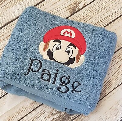 Embroidered Towel - Mario.