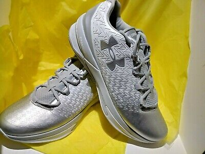 226f6c026ea2 Under Armour UA Clutchfit Drive 3 Low Basketball Shoes Silver SIZE 13