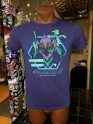 (W) Evangelion: 1.0 You Are (Not) Alone purple small t-shirt, Japanese series