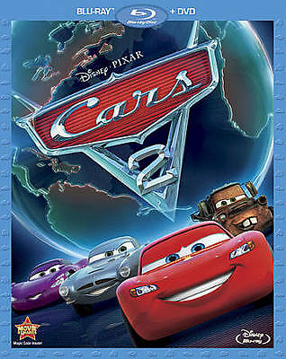 "Disney/pixar ""cars 2"" (Blu-Ray/dvd, 2011, 2-Disc Set) With Slip Cover Like New!"