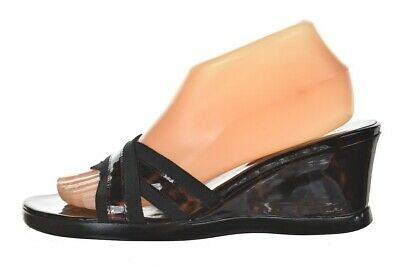 12c80b726ee Stuart Weitzman Womens Shoes Size 8.5 Brown Marbled Leather Wedge Sandals  Casual