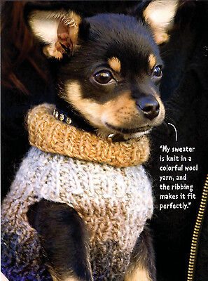 Vintage Knitting Pattern Copy -To Knit Ribbed Dogs  Coat In 3 Sizes - 10Ply