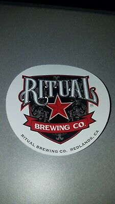 RITUAL BREWING CO Hop-O-Matic Redlands Cali STICKER decal craft beer brewery