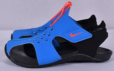 3c73357a3 NIKE BOYS  SUNRAY Protect 2 (PS) Preschool Sandal Photo Blue (943826 ...