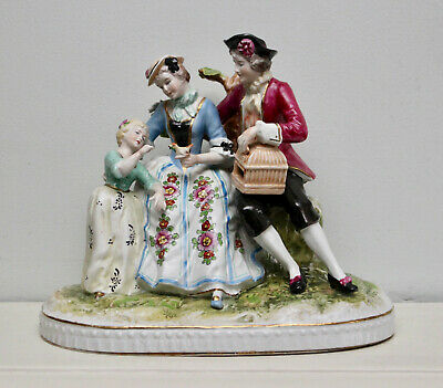 A Magnificent & Large Dresden Figural Porcelain Group, Wilhelm Rittirsch