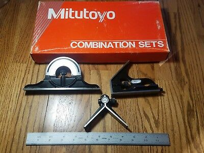 "Mitutoyo 12"" Combination Square Set w/ original box *MINT*"