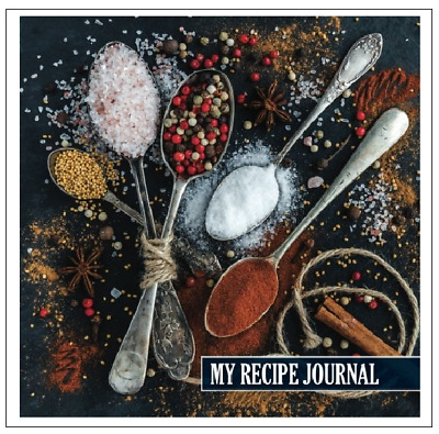 Kitchen Spices Spoon Blank Recipe Journal Cooking Book Write In Cookbook Diary